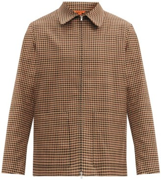 Barena Marafon Checked Wool-blend Twill Jacket - Brown Multi