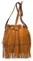 Patricia Nash Spring Boho Suede Collection Bronte Fringe Bucket Bag