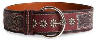 Etro Leather Patterned Belt