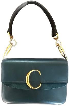 Chloé C Green Leather Handbags