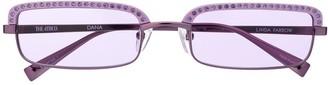 Linda Farrow Attico 5 rectangular frame sunglasses