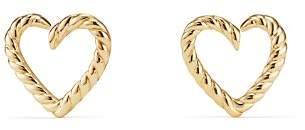 David Yurman Cable Heart Earrings in 18K Gold
