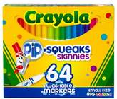 Crayola Pip-Squeaks Skinnies Markers Washable 64ct