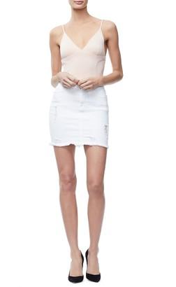Ga Sale Denim Mini Skirt - White005