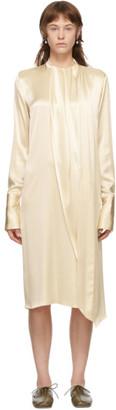 Loewe Off-White Satin Lavalliere Dress