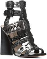 Donald J Pliner Women's BINDY - Calf and Metallic Leather Heeled Sandal