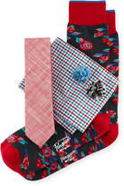 Original Penguin Five-Piece Sock and Tie Box Set, Multi/Red