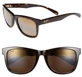 Maui Jim Women's 'Legends' 54Mm Polarized Retro Sunglasses - Dark Tortoise
