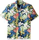 Cubavera Men's Short Sleeve Tropical Retro Print Woven Shirt