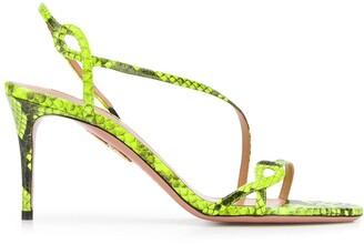Aquazzura Snakeskin Print Sandals
