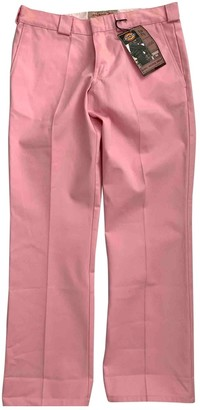 Dickies Pink Cloth Trousers for Women