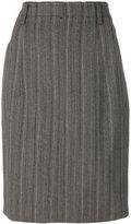 Jil Sander tonal stripes straight skirt