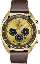 Seiko Recraft Mens Brown Strap Watch-Ssc570