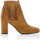 """Saint Laurent Women's Fringed """"Babies"""" Ankle Boots-TAN"""