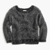 J.Crew Girls' fuzzy wool-blend popover sweater