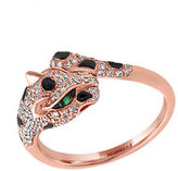 Effy Signature Diamond, Tsavorite and 14K Rose Gold Leopard Ring