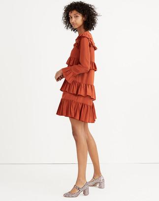 Madewell Silk Waterlily Ruffle Dress