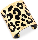 GUESS Two-Tone Animal-Look Wide Cuff Bracelet