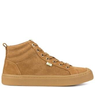 Cariuma OCA high suede all camel sneakers