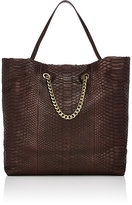 Lanvin WOMEN'S CARRY ME PYTHON SHOPPER TOTE BAG