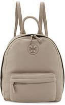 Tory Burch Zip-Around Leather Backpack, French Gray