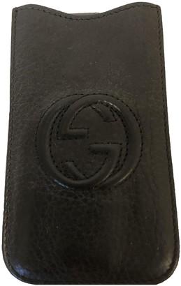Gucci Black Leather Accessories