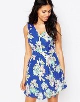 Iska Zip Front Floral Dress