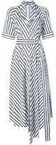 ADAM by Adam Lippes asymmetric stripe dress