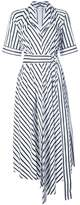 ADAM by Adam Lippes striped asymmetrical belted dress