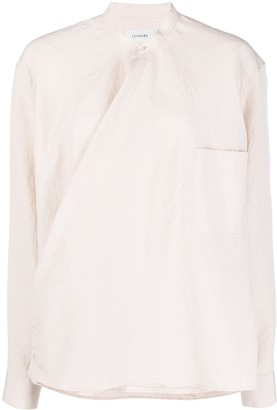 Lemaire Collarless Wrap Shirt
