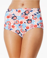 Tommy Hilfiger Floral-Print High-Waist Bikini Bottoms