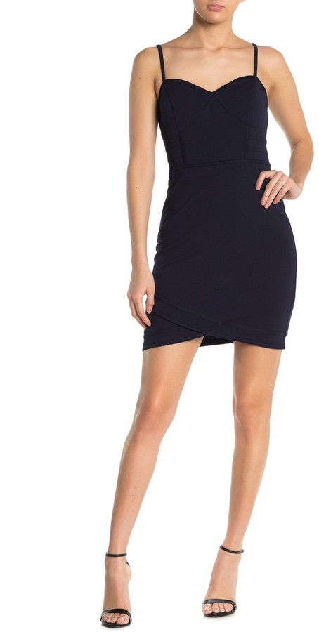 GUESS Seamed Solid Mini Dress