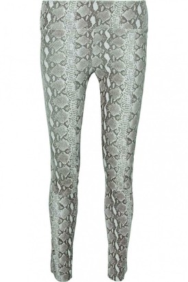 Sprwmn \N Grey Leather Trousers