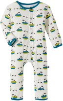 Kickee Pants Print Coverall (Baby) - Four/Blackbirds - 18-24 Months