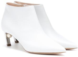 Nicholas Kirkwood Mira Pearl 55mm leather ankle boots