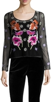 Temperley London Sylvie Embroidered Sequin Bust Blouse