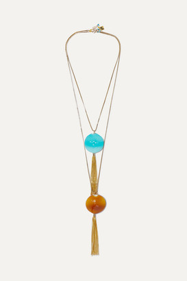 Rosantica Bolle Set Of Two Gold-tone And Glass Necklaces