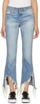 R 13 Blue Kick Fit Long Jeans