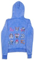 Butter Shoes Girls' Studded Puppies Hoodie - Sizes 4-6