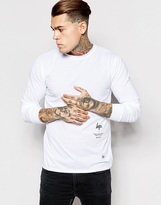 Hype Long Sleeve T-shirt With Clean Side Logo - White