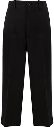 Gucci Pleated Cropped Trousers