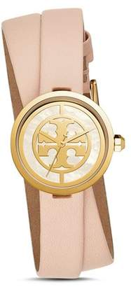 Tory Burch The Reva Pink Wrap Strap Watch, 28mm