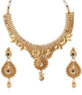 Fasherati Antique Floral Pattern Necklace Set For Women.