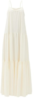 Roche Ryan Tiered Maxi Dress - Womens - White / Ivory