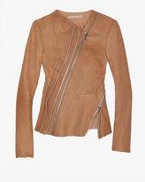 Willow Zippered Leather Peplum Jacket