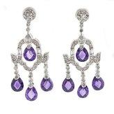 Alljoy Enticing Sparkle & Charm - Chandelier Earrings with Amethyst CZs & Pavé