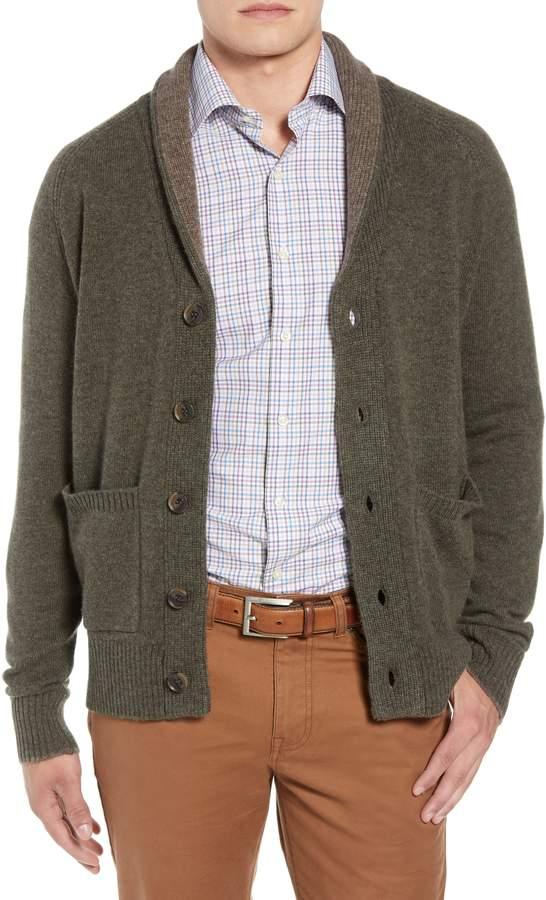 Peter Millar Merino Wool & Yak Down Shawl Collar Cardigan