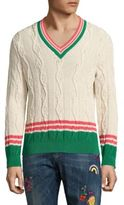Paul Smith Striped Cable Knit Sweater