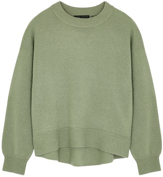 Alice + Olivia Dever Green Stretch-cashmere Jumper
