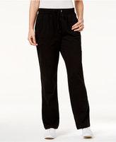 Karen Scott Petite Drawstring Lounge Pants, Only at Macy's